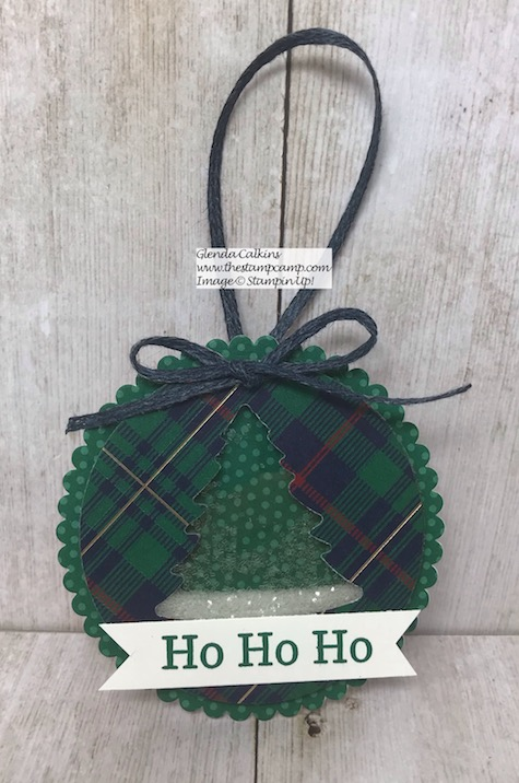 The Perfectly Plaid Bundle creates the Perfectly Plaid Christmas Ornaments. The Perfect Teacher gift, Neighbor or friend. Details on my blog here: https://wp.me/p59VWq-aus #stampinup #perfectlyplaid #thestampcamp #ornament