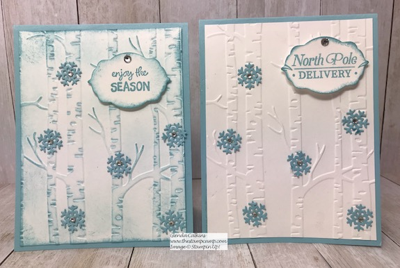 The Trio of Tags Dies aren't just for the Tags Tags Tags stamp set from Stampin' Up! Mix them up with other stamp sets and embossing folders. details on my blog:https://wp.me/p59VWq-ar1 #stampinup #dies #framelits #thestampcamp