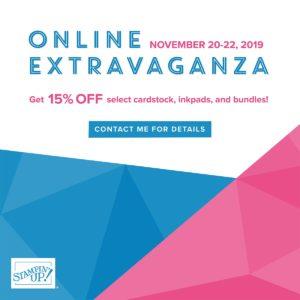 Online Extravaganza Begins Today!
