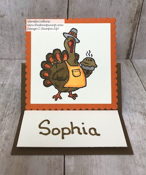 Thanksgiving will be here soon; are you ready? This is some cute tableware you can create using the Birds of a Feather stamp set from Stampin' Up! Details on my blog here: https://wp.me/p59VWq-axK #stampinup #thanksgivng #thestampcamp