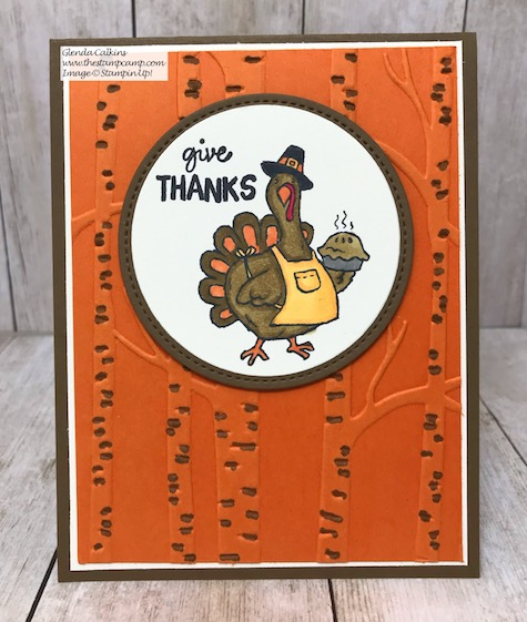 Birds of a Feather Tom Turkey for your upcoming Thanksgiving festivities. Details on my blog here: https://wp.me/p59VWq-awo #stampinup #birdsofafeather #thestampcamp #thanksgiving
