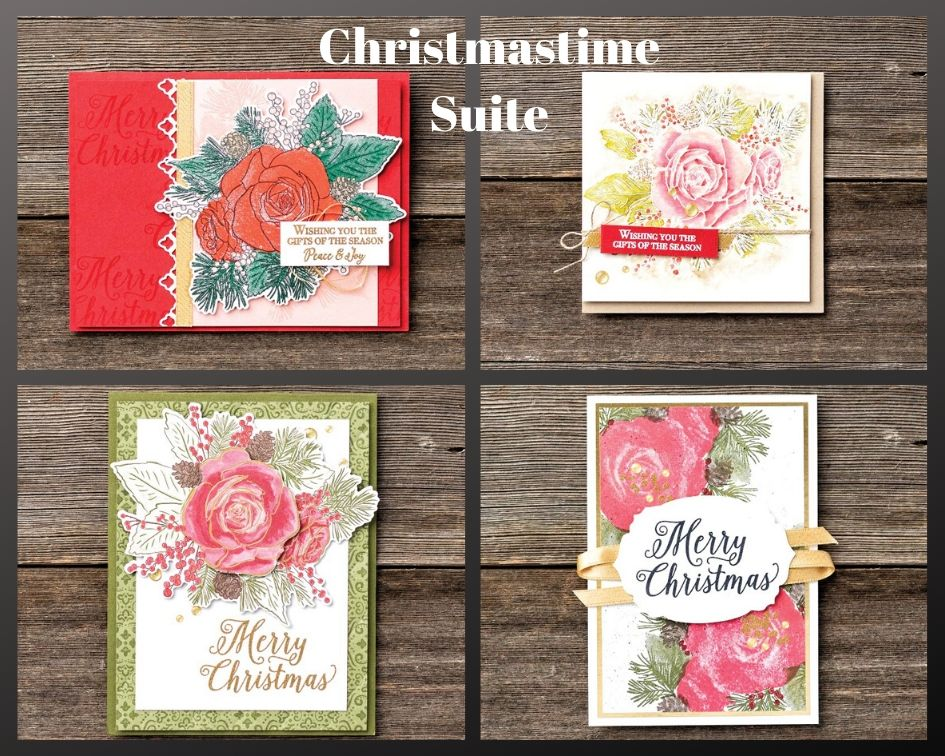 This is the Christmastime Suite from Stampin' Up! create gorgeous Christmas cards but great for multiple occasions as well. Details on my blog here: https://wp.me/p59VWq-avY