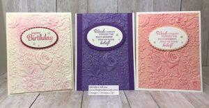 More of Sophia's Brayered Embossing Folder Cards