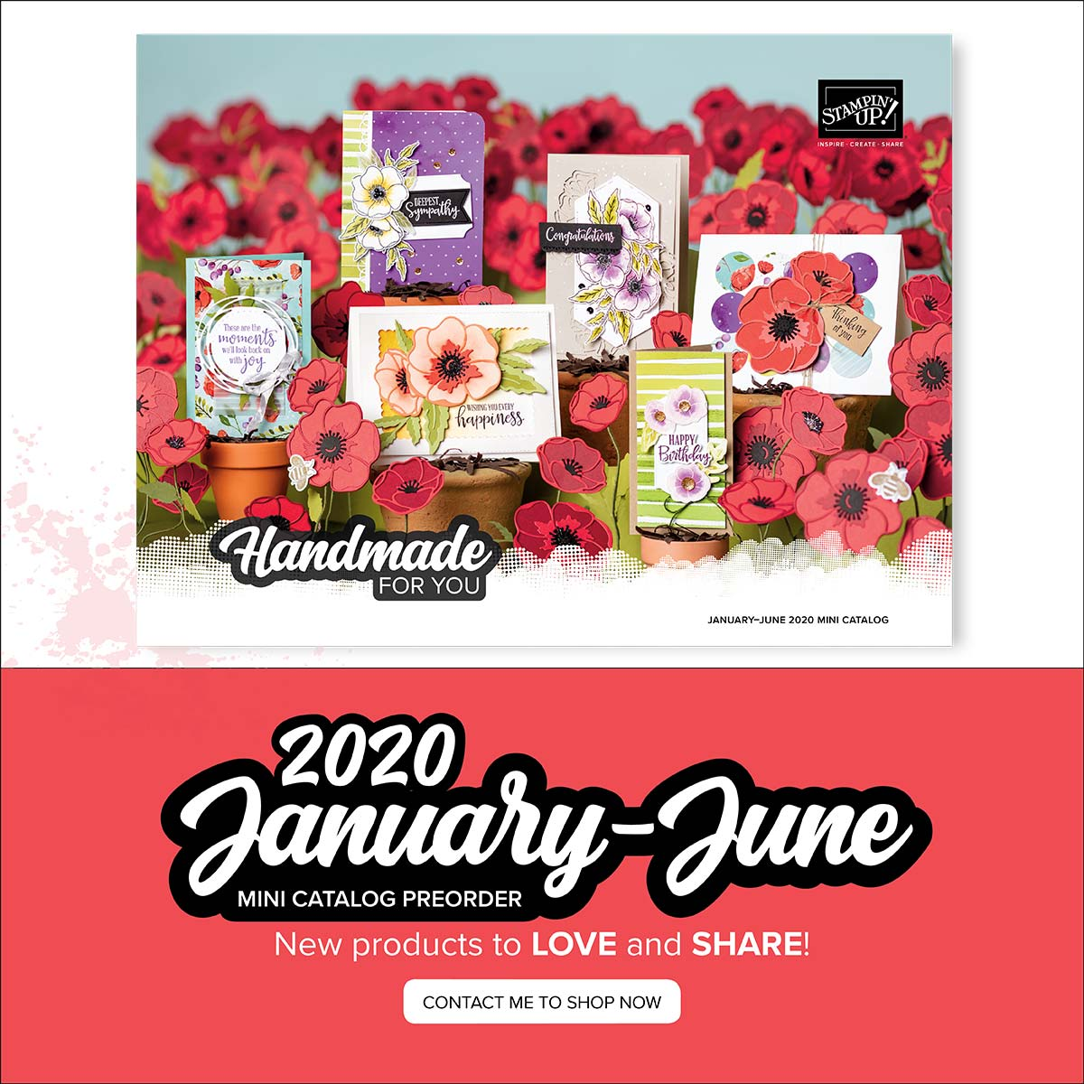 The Stampin' Up! New Mini catalog will begin on January 3, 2020. See my blog here for details: https://wp.me/p59VWq-aF6