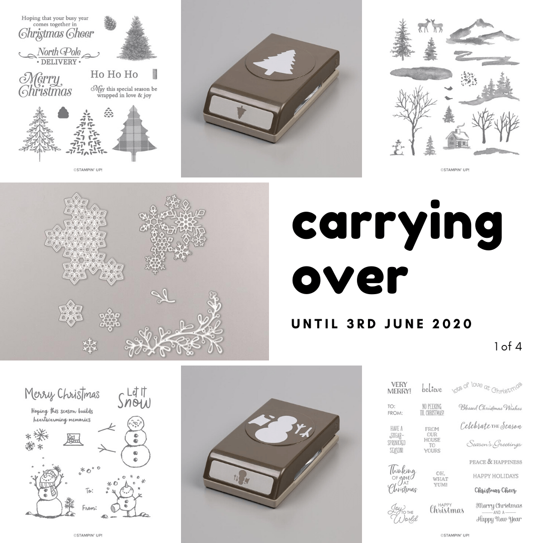 Holiday Mini Carry Over Products. Details on my blog here: https://wp.me/p59VWq-aBg #stampinup #thestampcamp