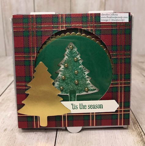 A Box of Chocolates and a coordinating card is my Day 5 project in my 12 Days of Christmas Gift Giving Ideas. Details on my blog here: https://wp.me/p59VWq-aBw #stampinup #thestampcamp #gift #christmasgift