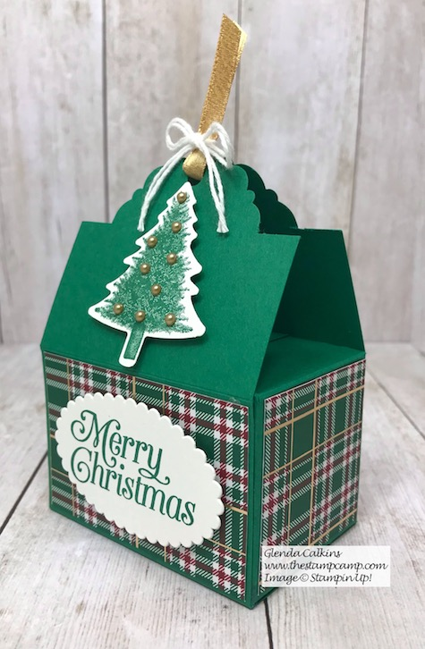 The Scallop Tag Topper Punch from Stampin' Up! creates the Perfect Box for Ghirardelli Chocolates. See my blog for details: https://wp.me/p59VWq-aAR #stampinup #thestampcamp #tagbox #tagpunch