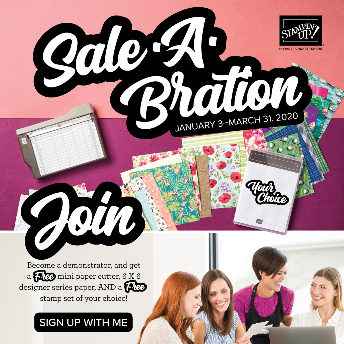 Now is the perfect time to Join My Team and Stampin' Up! Details are on my blog here: https://wp.me/p59VWq-aGh