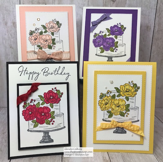 All these cards were created using the FREE Sale-a-bration stamp set called Happy Birthday to You! This is from Stampin' Up! Details are on my blog here: https://wp.me/p59VWq-aH8 . #stampinup #thestampcamp #saleabration #happybirthdaytoyou