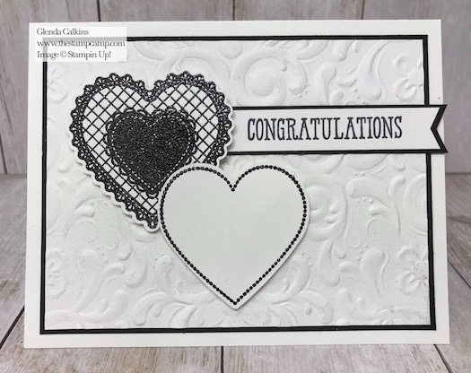 The Heartfelt Bundle is not just for Valentine's Day you can do so much more with it. Details are on my blog here: https://wp.me/p59VWq-aI7 #stampinup #thestampcamp #heartfelt #Wedding