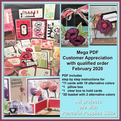 Peaceful Poppies Customer Appreciation PDF file free with a min. $40.00 order. See details here: https://wp.me/p59VWq-aK8