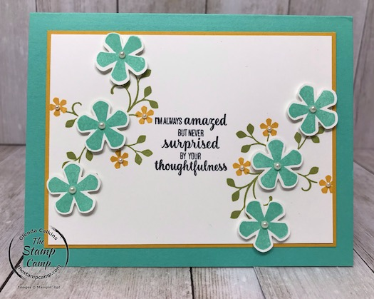 Continuing with the Thoughtful Blooms Stamp Set