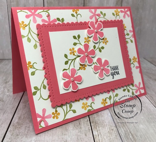 Thoughtful Blooms FREE Sale-a-bration stamp set Day 5.  See my blog for details here: https://wp.me/p59VWq-aJA  #stampinup #thoughtfulblooms #saleabration #thestampcamp