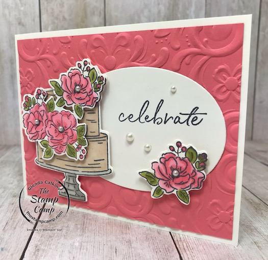 The Happy Birthday To You Stamp Set is a FREE Sale-a-bration stamp set which also has coordinating framelits to go with them. Details can be found on my blog here: https://wp.me/p59VWq-aND #stampinup #thestampcamp #saleabration #birthday