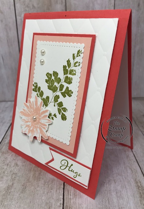 This card was created for a challenge using the Positive Thoughts stamp set from the mini catalog. Details are on my blog here: https://wp.me/p59VWq-aOG . #stampinup #positivethoughts #thestampcamp