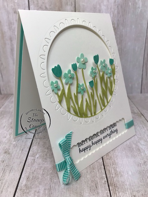 This is the Sending Flowers Dies which coordinates with the Sending you Thoughts free sale-a-bration stamp set. Details can be found on my blog here: https://wp.me/p59VWq-aLN . #stampinup #saleabration #dies #thestampcamp