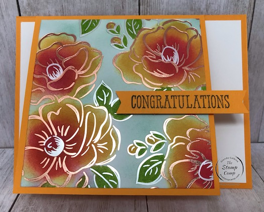 Flowering Foils Fun Fold Card Live Tonight!