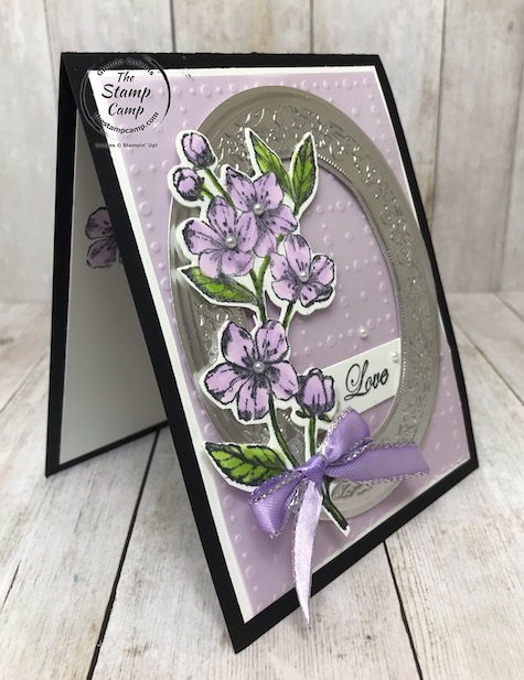 The Forever Blossoms bundle is my featured stamp set for March 2020. Details on today's beautiful mirror framed card can be found on my blog here: https://wp.me/p59VWq-aRf . #stampinup #foreverblossoms #thestampcamp