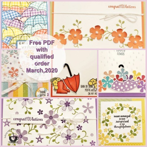 Customer Appreciation pdf for for March available for free with a min. $40.00 order. Details are on my blog here: https://wp.me/p59VWq-aP6 #stampinup #thestampcamp #saleabration