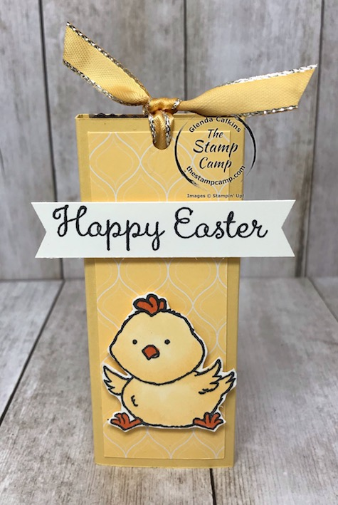 The Welcome Easter stamp set makes great Easter Treat holders as well as cards. Details on my blog here: https://wp.me/p59VWq-aR8 #stampinup #easter #treatholder #thestampcamp