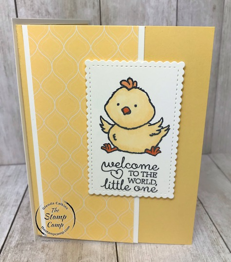 Welcome Easter stamp set not just for Easter. Great for a baby card or kids cards. Details on my blog here: https://wp.me/p59VWq-aQU #stampinup #baby #thestampcamp