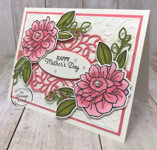 Band Together with the Details Bands Dies; creates a beautiful Mother's Day card don't you think? Details are on my blog here: https://wp.me/p59VWq-aWf #stampinup #bandtogether #thestampcamp #mothersday