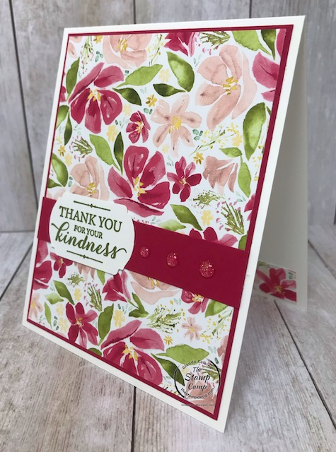 This beautiful print is from the Best Dressed Designer Series Paper pack from Stampin' Up! Details can be found on my blog here: https://wp.me/p59VWq-aTC #stampinup #bestdressed #thestampcamp #designerpaper