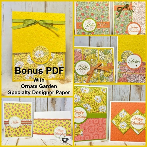 April Customer Appreciation PDF file free with a min. $40.00 order and must use this hostess code: 2NDPEFNC . Details are on my blog here: https://wp.me/p59VWq-aT0 #stampinup #thestampcamp