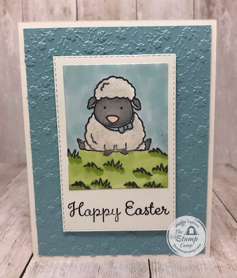 Welcome Easter Little Lamb with Ornate Floral