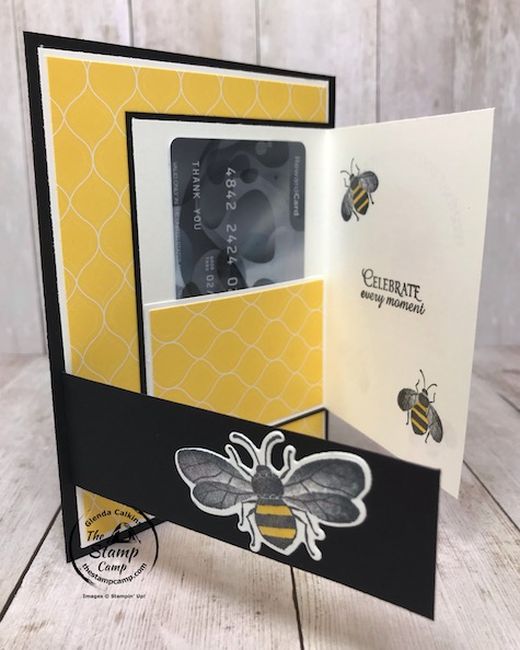 The Honey Bee Bundle is the perfect stamp set to create a Mother's Day or Birthday Card/Gift Card Holder all in one. This fun fold card will be a hit. Details are on my blog here: https://wp.me/p59VWq-aYz #stampinup #mothersday #giftcardholder #thestampcamp