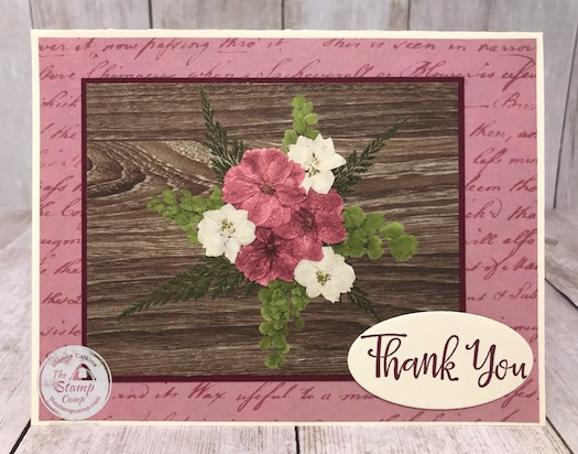 What's your go to product when you want to create a quick card? Mine is the Pressed Petals Specialty Designer Series Paper from Stampin' Up! Details are on my blog here: https://wp.me/p59VWq-aZx #stampinup #pressedpetals #designerpaper #thestampcamp