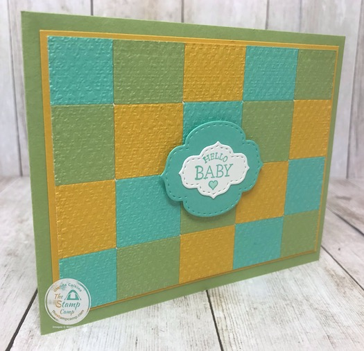 So what do you do with all the little left over squares after you use the plaid builder die? Why you create a quilt card! Details are on my blog here: https://wp.me/p59VWq-bhU. #thestampcamp #quiltcard #plaiddies #bestplaidbuilder