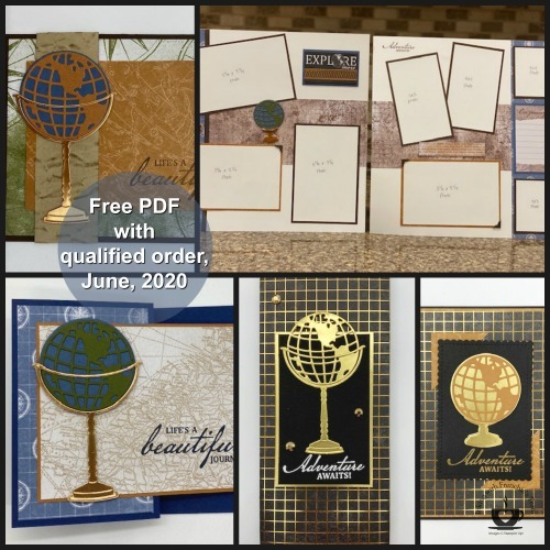 The Beautiful World stamp set/bundle makes the perfect masculine cards for Father's Day, Birthday's Retirement etc. You can also use it to create some great Graduation cards. The possibilities with this stamp set is endless. Details on this FREE PDF file are on my blog here: https://glendasblog.com/final-days-of-retired-list-products/