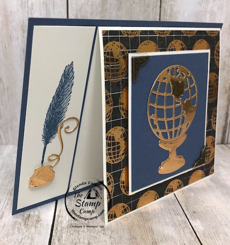 This whole month of June 2020 I've been showcasing the Beautiful World Bundle and the World of Good Specialty Designer Series Paper. I really recommend this bundle as you can create beautiful cards for so many different occasions and a great masculine stamp set. Find all the details on my blog here: https://wp.me/p59VWq-biP. #stampinup #thestampcamp #glendasblog #beautifulworld