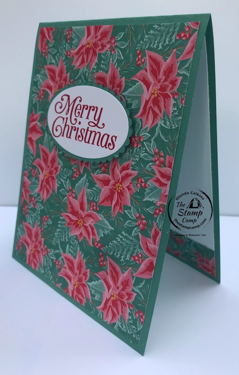 Christmas Cards don't have to be time consuming. You can create beautiful Christmas cards in no time with the right paper pack, sentiment and framelits. Both of these cards were create with just 1 sheet of Designer Series Paper; think of how many Christmas cards you could make in no time at all. Details are on my blog here: https://wp.me/p59VWq-bm0. #stampinup #christmas #thestampcamp #christmascards