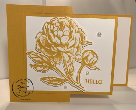 Prized Peony Bundle in Bumblebee Z Fold Card