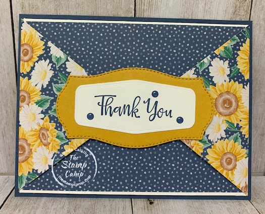It's Fun Fold Friday and this is my card for today. It features the Flowers For Every Season Designer Series Paper Pack and you can create beautiful cards with all the fabulous prints. Details are on my blog here: https://wp.me/p59VWq-btz. #stampinup #flowersforeveryseason #thestampcamp #designerpaper