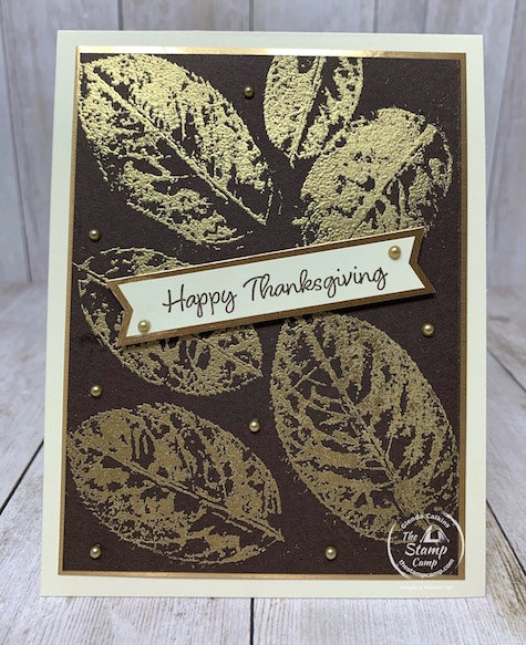 Tuesday's Tips and Techniques card for this week was the Leaf Embossing technique. I found this technique and splitcoaststampers and decided to give it a try. This technique uses real leaves so get outside and pick some up before they are gone for the season. Super cool technique and results are stunning. Details are on my blog here: https://wp.me/p59VWq-buO. #stampinup #leafembossing #thestampcamp