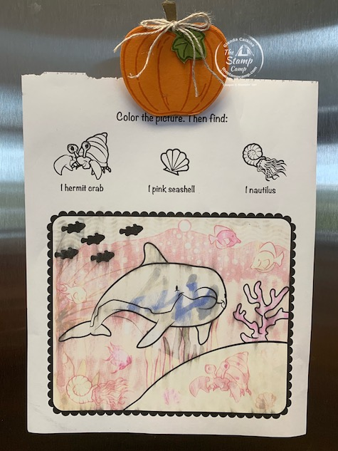 It's Make It Monday and this week we are creating a refrigerator magnet so your littles can hang their creations on the refrigerator. Details are on my blog here: https://wp.me/p59VWq-buE. #stampinup #thestampcamp