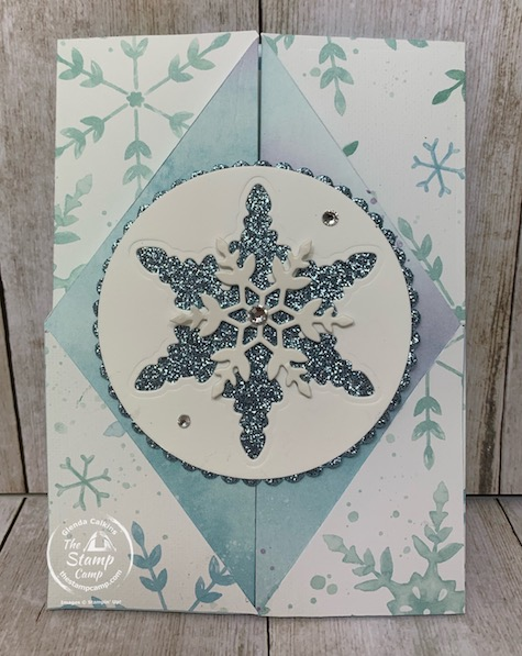 My featured stamp set for the month of October 2020 is the Snowflake Wishes Bundle and the Snowflake Splendor Designer Series Paper which is on special this month at 15% off! Details for this bonus card is on my blog here: https://wp.me/p59VWq-bw4. #stampinup #snowflakes #thestampcamp