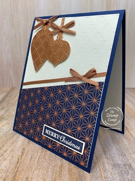 Have you started to create your Christmas cards yet for this year? Now is a great time to get started! I used the Christmas Gleaming bundle to create this card and it is super striking in person. Details are on my blog. #thestampcamp #stampinup #christmas