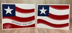 Quite Curvy Patriotic Cards - It's a Twofer Technique!
