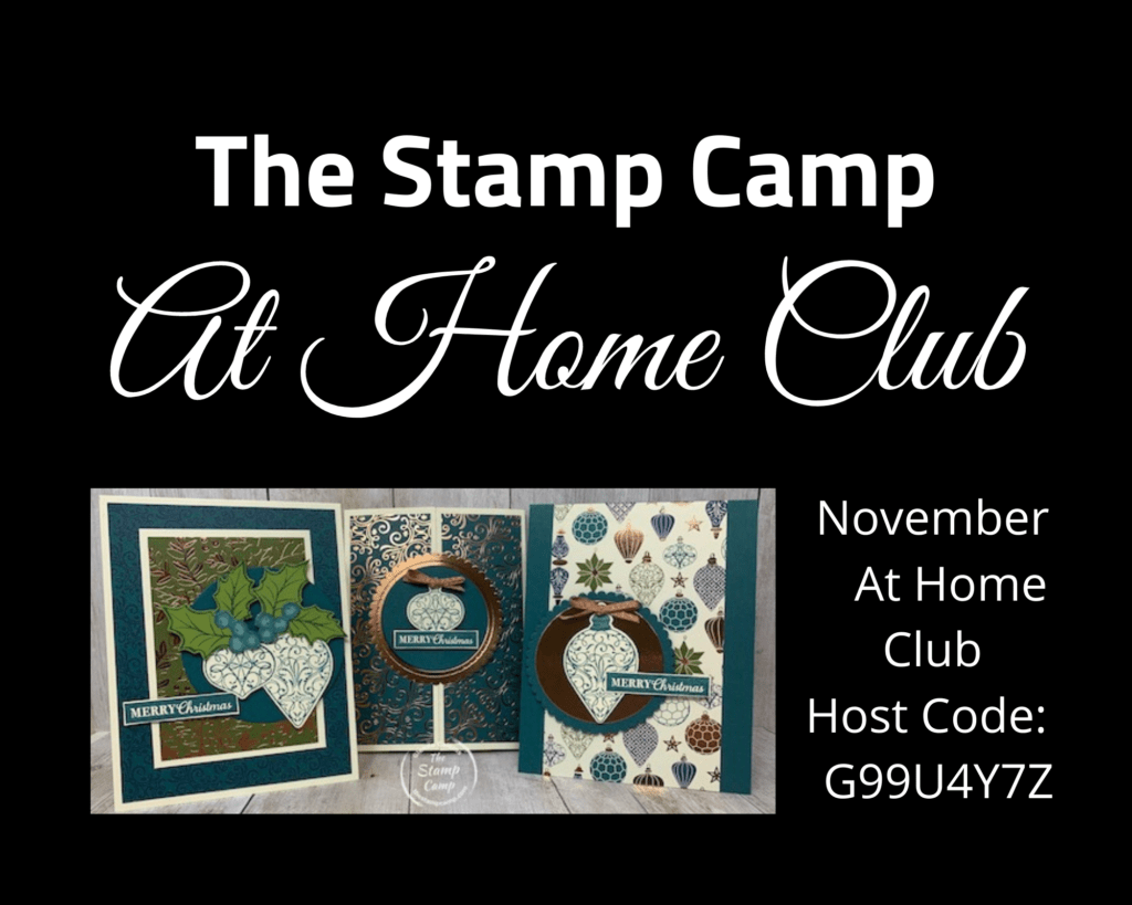 Have you ever thought of joining a stamping club? Well I have just the club for you and it is delivered right to your door! You choose the products you would like to purchase and use the club host code and you will receive a packet of supplies to create 3 cards. I will suggest a stamp set and supplies needed. Details are on my blog. #thestampcamp #stampinup #cardclub #kits