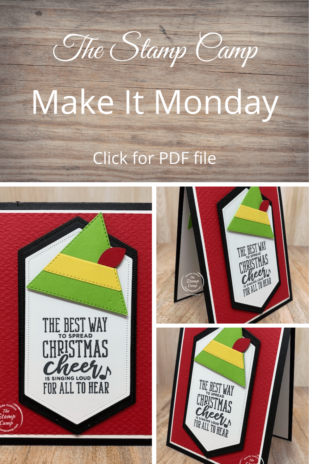 It is Make It Monday and this week it is creating an Elf Hat using the Stitched Triangle Dies from Stampin' Up! The sentiment is from the Christmas Means More stamp set which reminds me of the Christmas Movie Elf with Will Ferrell. #stampinup #thestampcamp #dies
