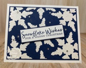 What do you do with left over die cuts? I had a few of these left over snowflake die cuts from some ornaments that I created and instead of throwing them away I decided to do this inlaid card technique with them. Haven't ever tried this technique you should give it a try. #stampinup #thestampcamp #snowflakedies