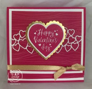 Let's Create This Super Cute and Delicious Ghirardelli Treat Holder for Valentine's Day! Grab your Heartfelt Stamp Set and Heart Punches, The Be Mine Stitched Dies and some card stock and lets get started! #thestampcamp #stampinup #treatholder
