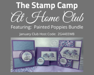Painted Poppies Stamp Camp At Home Club
