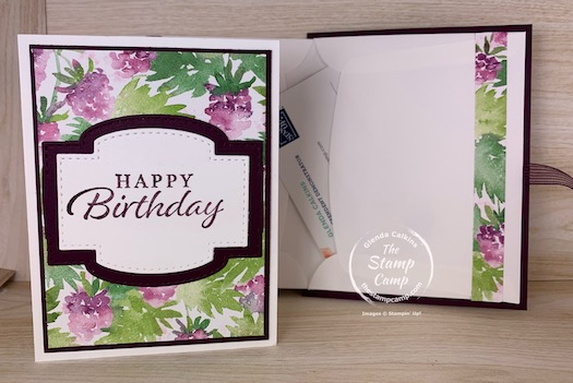 This week for Make it Monday I have a simply stunning Card and Gift Card Holder all in One to show you! You will love this project and it is perfect for so many occasions. #thestampcamp #stampinup #giftcardholder