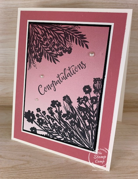 A match made in heaven is the results you will get with the Corner Bouquet and the Oh So Ombre free Sale-a-bration stamp set and paper pack. I love the Oh So Ombre and paired with the Corner Bouquet for the win! #thestampcamp #stampinup #saleabration