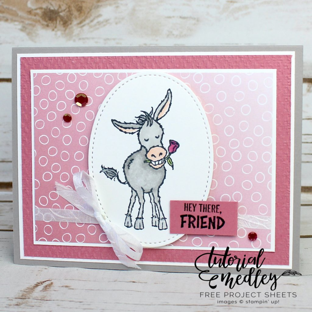 Only a few more days left to place your Stampin' Up! online order and be able to choose the Darling Donkeys stamp set for FREE! You will love this little donkey stamp set as much as I do; make sure to get yours today! #thestampcamp #stampinup #darlingdonkeys #saleabration